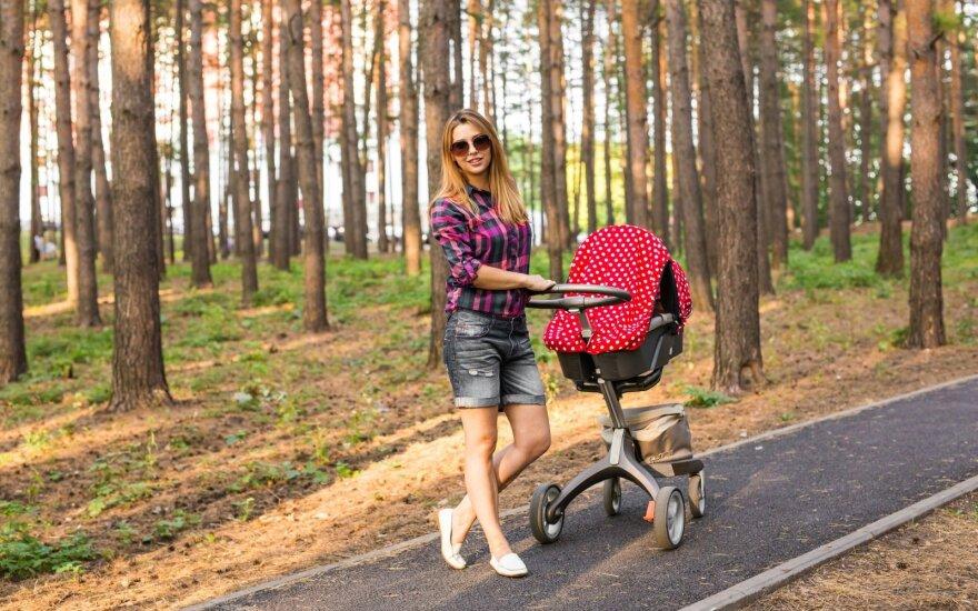 Uždengtas vežimėlis – perkaitimo pavojus
