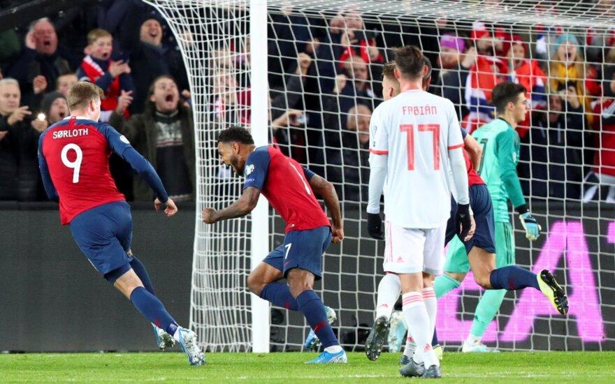 EURO-2020 atranka: ispanai apmaudžiai paleido pergalę
