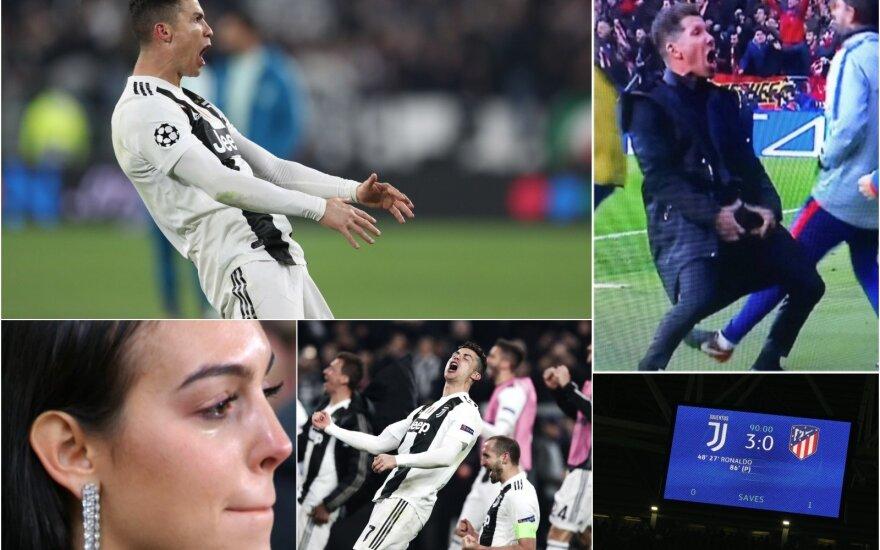 Cristiano Ronaldo, Georgina Rodriguez, Diego Simeone (Foto: AFP-Scanpix, AP-Scanpix)