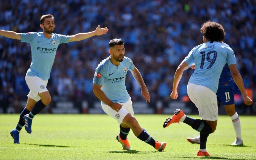 """Aguero įvarčiai """"Man City"""" klubui padovanojo pirmą sezono trofėjų"""