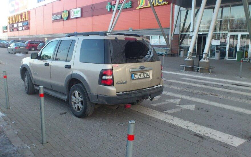 Klaipėdoje, prie PC Banginis. 2012-01-28