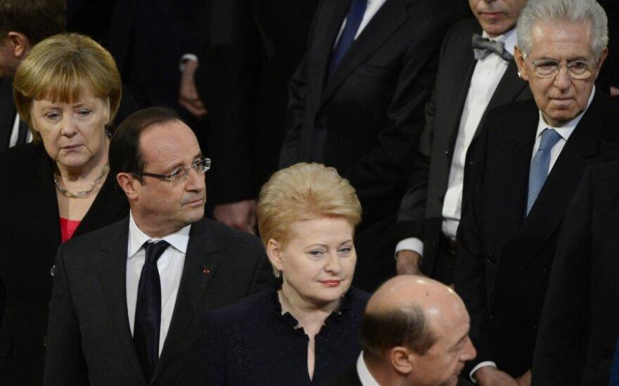 Dalia Grybauskaitė tarp Europos lyderių