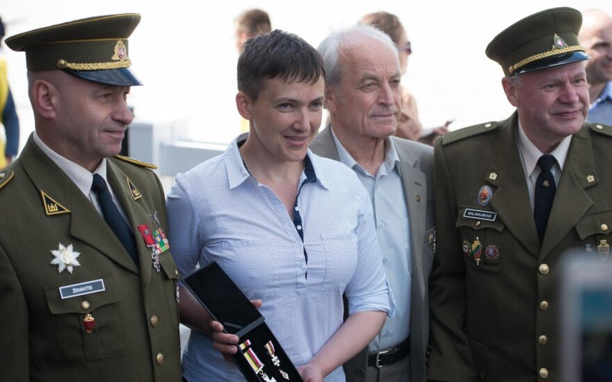 Smaller states must band together - Savchenko in Lithuania