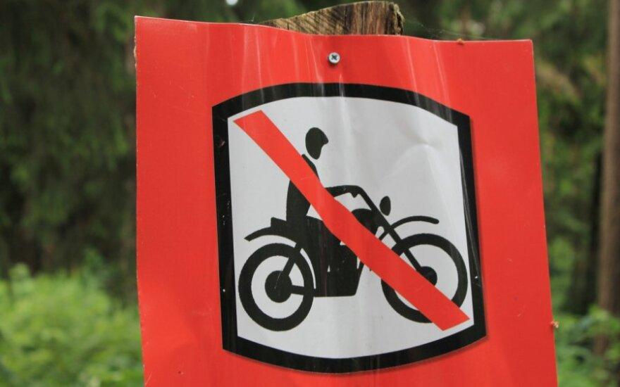 Draudžiami motociklai