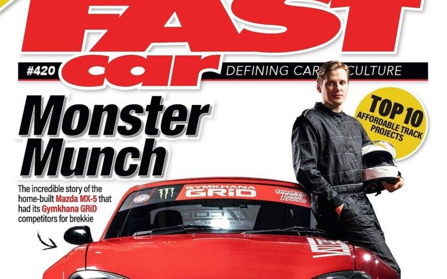 """Išskirtinis lietuvio """"Mazda MX-5"""" papuošė žymaus britų automobilių žurnalo viršelį"""