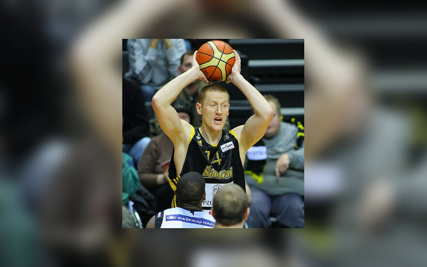 """Su kamuoliu - Donatas Zavackas (""""Šiauliai"""")"""
