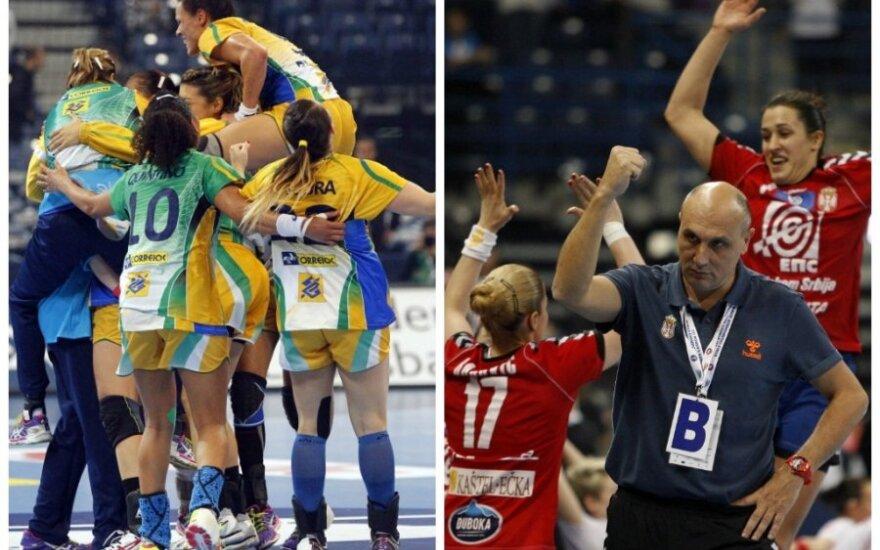 Brazilijos ir Serbijos moterų rankinio rinktinės susitiks pasaulio čempionato finale