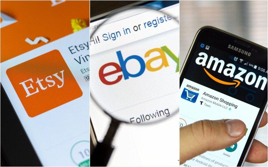 """Kuri platforma tinkamiausia mano verslo plėtrai: """"Amazon"""", """"eBay"""" ar """"Etsy""""?"""