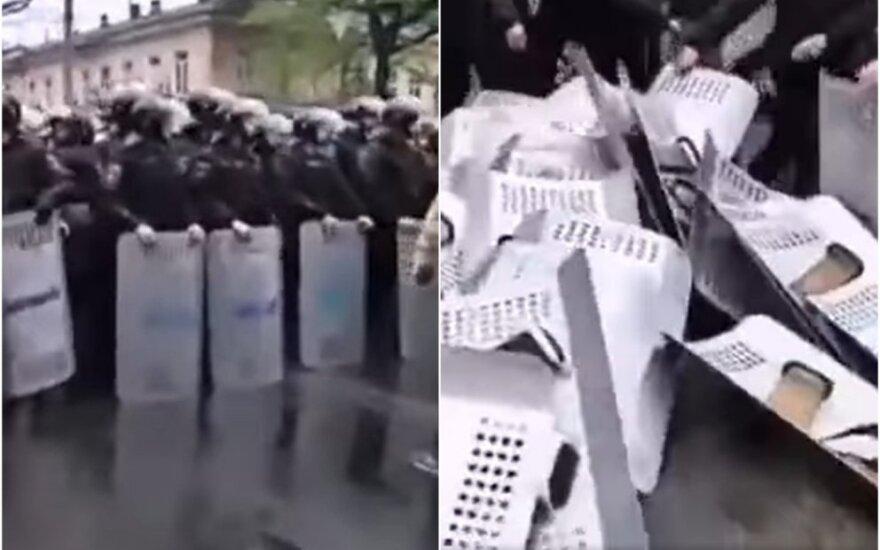 Kadrai iš 2014 m. gegužės mėnesio įvykių Odesoje, Ukrainoje