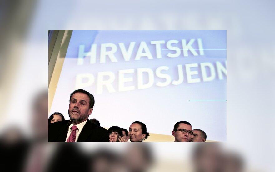 Kroatijos prezidento rinkimai. Nepriklausomas kandidatas, Zagrebo meras Milanas Bandičius.