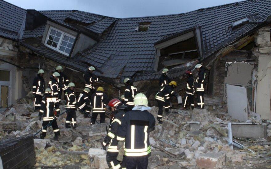 Vilniuje kilo gaisras prieš penkerius metus sprogusios pirties griuvėsiuose