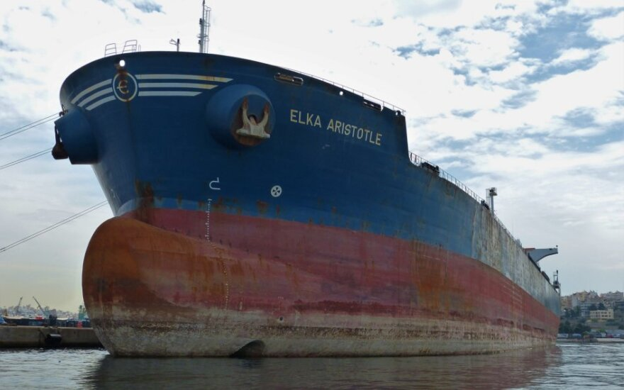 """Piratų užgrobtas tanklaivis """"Elka Aristotle"""""""