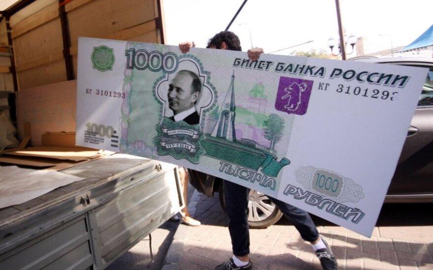 Rusijos akcijų indeksai po rekordinio smukimo vėl atsigauna