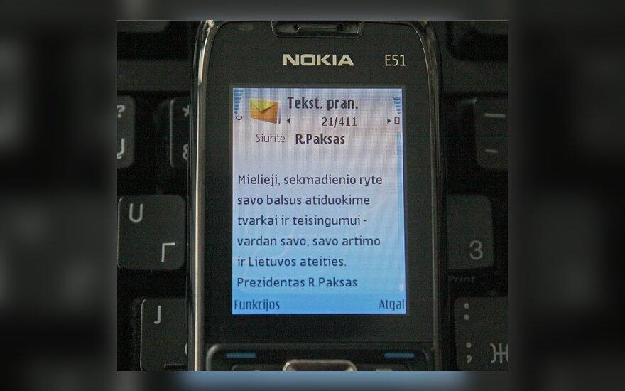 Dėl R.Pakso agitacinių SMS pradėtas tyrimas