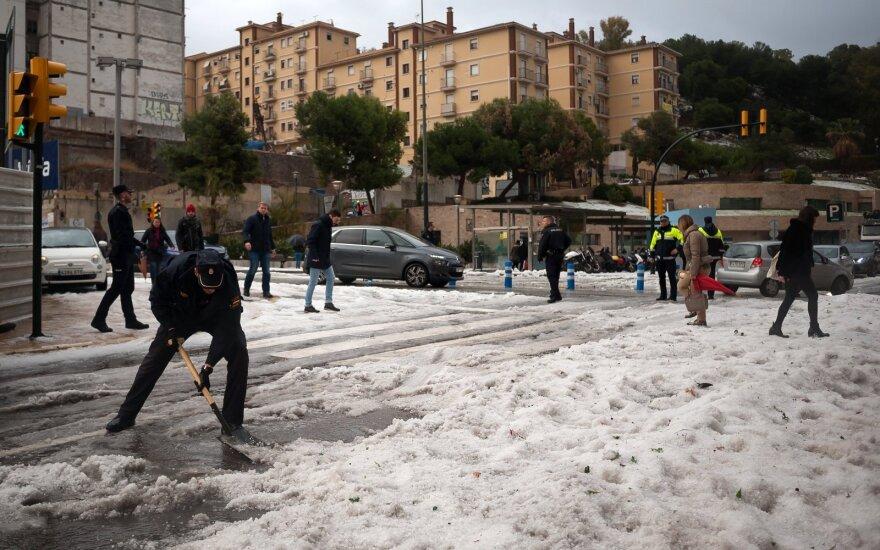 Sniegas Malagoje