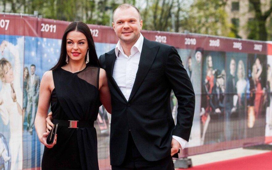 Kristupas Krivickas su žmona