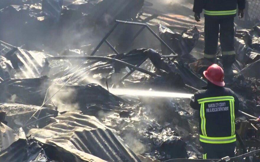 Kenijos sostinės turguje kilęs gaisras nusinešė 15 gyvybių