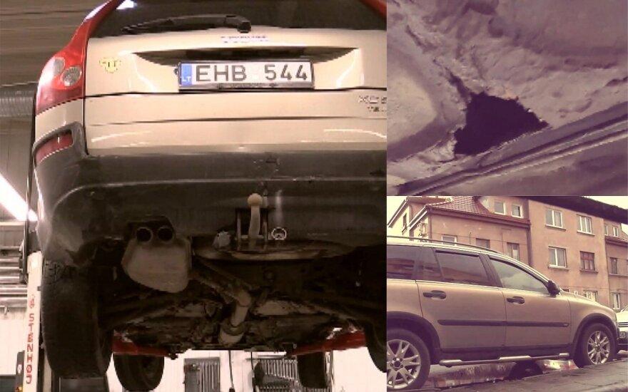 """Patikrinus klaipėdietės įsigytą """"Volvo"""" nustatyta 18 trūkumų"""