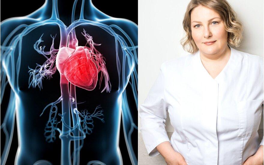 Santaros klinikos gydytoja kardiologė Milda Kovaitė papasakojo apie širdies ligas