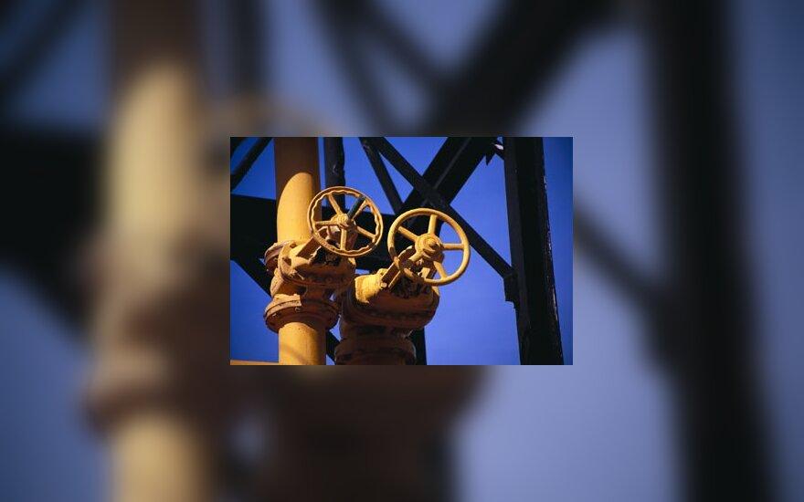 Dujos, dujų pramonė, vamzdžiai, kranai