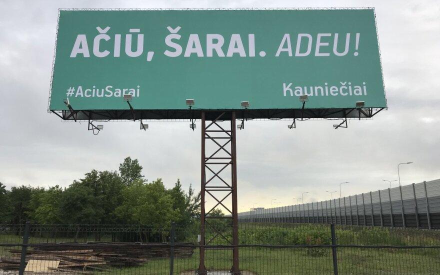 Plakatas su padėka Šarūnui Jasikevičiui