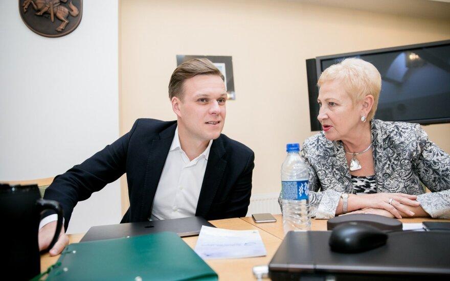 Gabrielius Landsbergis, Irena Degutienė