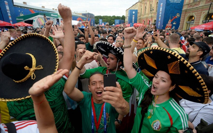 Meksikos rinktinės sirgaliai