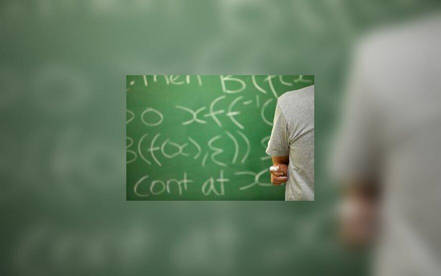 mokykla, lenta, pamoka, matematika