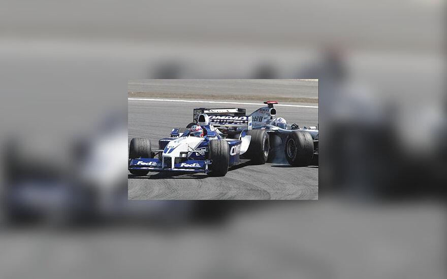 Juan Pablo Montoya ir David Coulthard