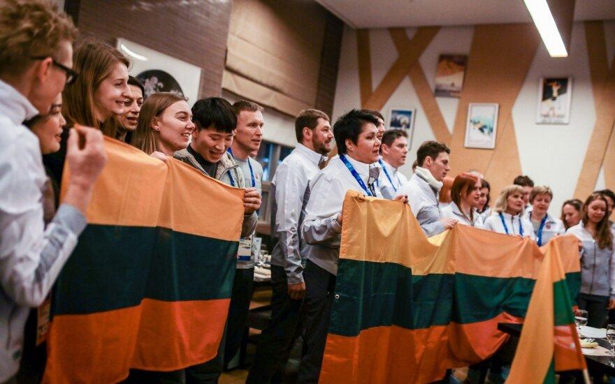Pjongčange skambėjo Lietuvos himnas