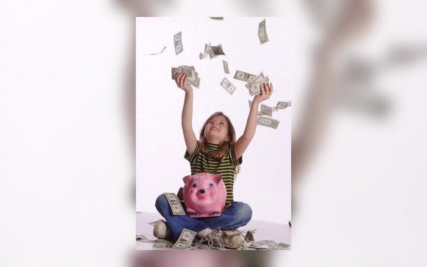 Vaikystė, pinigai, taupyklė