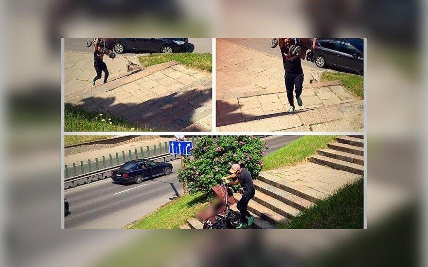 Pabandė su vaiku vežimėlyje judėti Vilniuje ir patyrė nuostolių