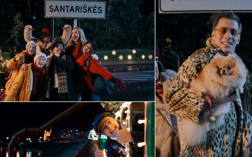 """Kadrai iš kalėdinės """"Tele 2"""" reklamos"""