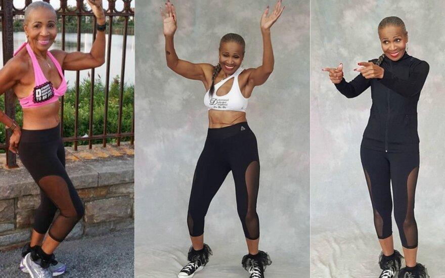 Nepatikėsite tuo, ką matote: raumeningiausiai pasaulio močiutei sukako 80
