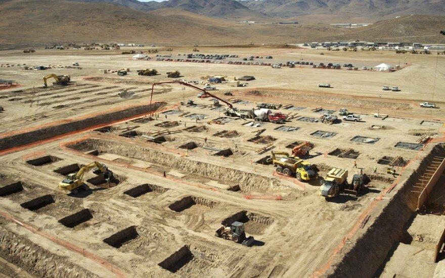 """""""Tesla Gigafactory"""" statybos, 2014 metų lapkritis"""