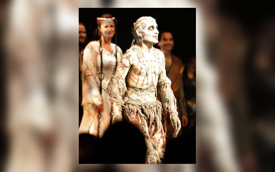 """Aktorius Michael'as Therriault'as, filme """"Žiedų valdovas"""" (""""The Lord Of The Rings"""") atliekantis Gollum'o vaidmenį."""