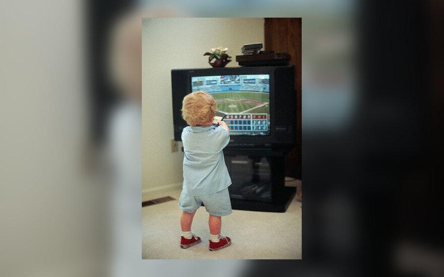 Televizija, kūdikis, vaikas