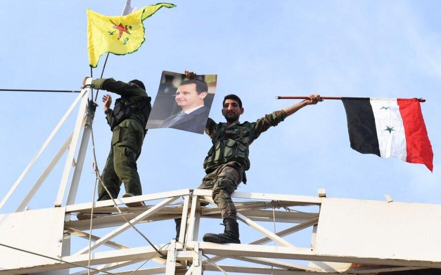 Sirijos režimo pajėgų kariai