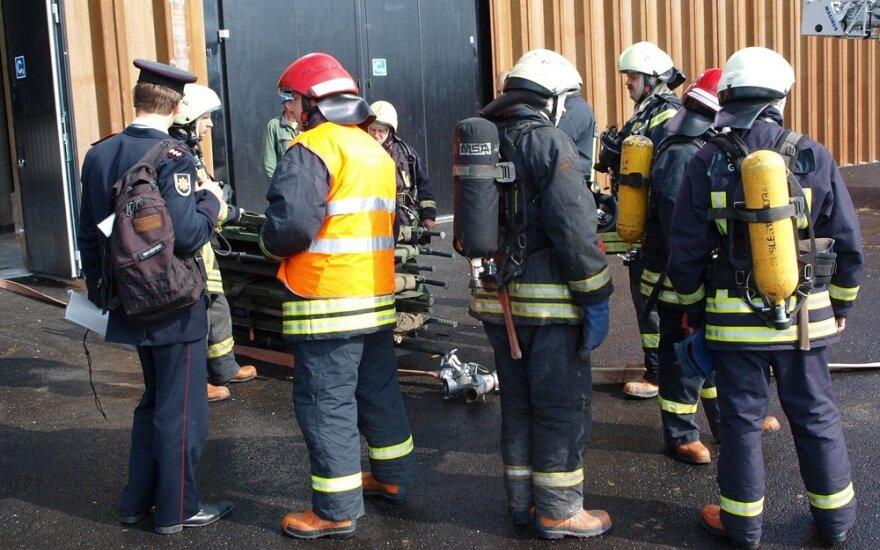 Civilinės saugos funkcinės pratybos Žalgirio arenoje