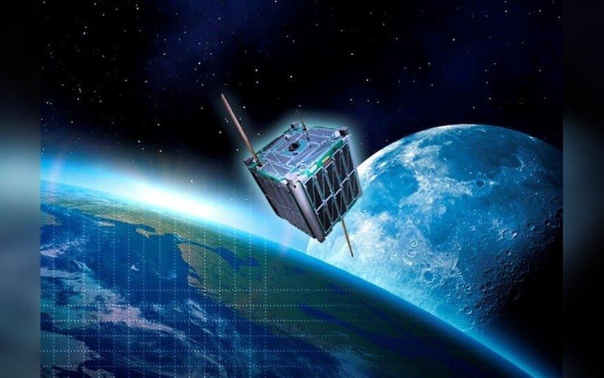 """Taip """"LitSat-1"""" turėtų atrodyti kosmose"""