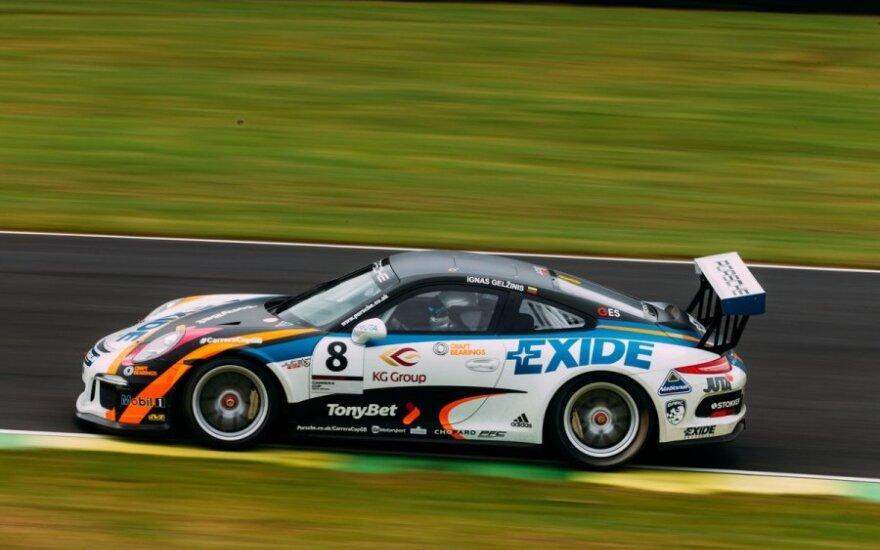 """I. Gelžinio startas penktajame """"Porsche Carrera Cup GB"""" etape"""
