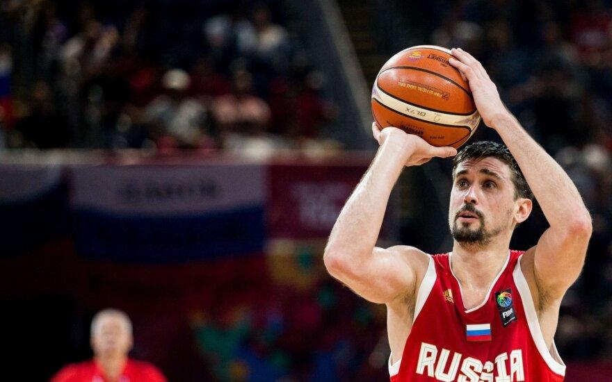 Rusijos krepšinio rinktinės lyderis A. Švedas