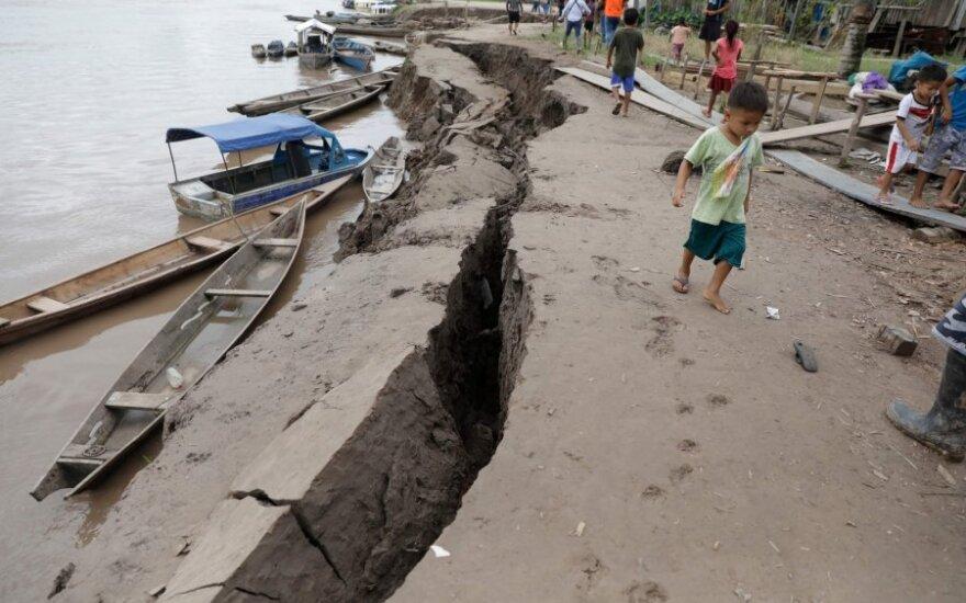 Galingas žemės drebėjimas smogė Peru