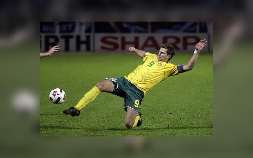 Tomas Danilevičius sieka kamuolio