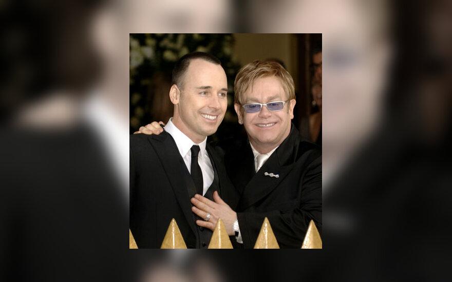 Eltono Johno ir  Davido Furnisho sutuoktuvės