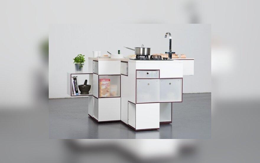 R.Schierjotto ir U.Kohlo sukurti virtuvės baldai (designboom nuotr.)