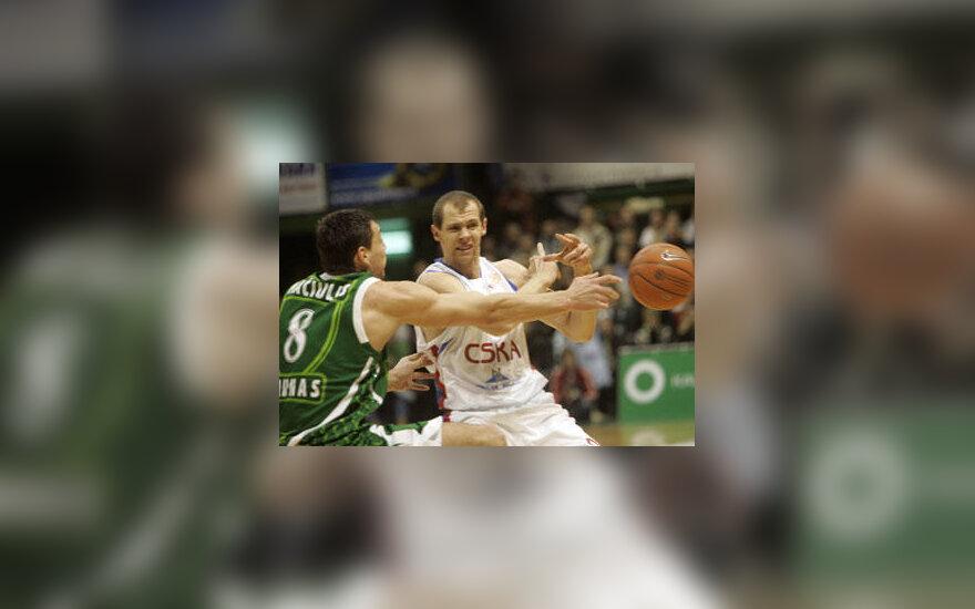 """Jonas Mačiulis (""""Žalgiris"""") nesulaikė Ramūno Šiškausko (CSKA)"""