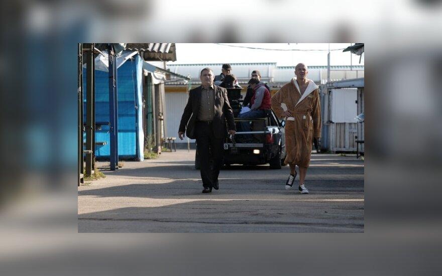 """Filmo """"Zero2"""" filmavimas: Ramūnas Rudokas ir Kęstutis Jakštas. P.Makausko nuotr."""