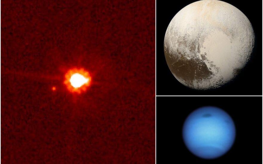 Eiridė, Plutonas ir Neptūnas. NASA/ESA/Hubble/New Horizons nuotr.