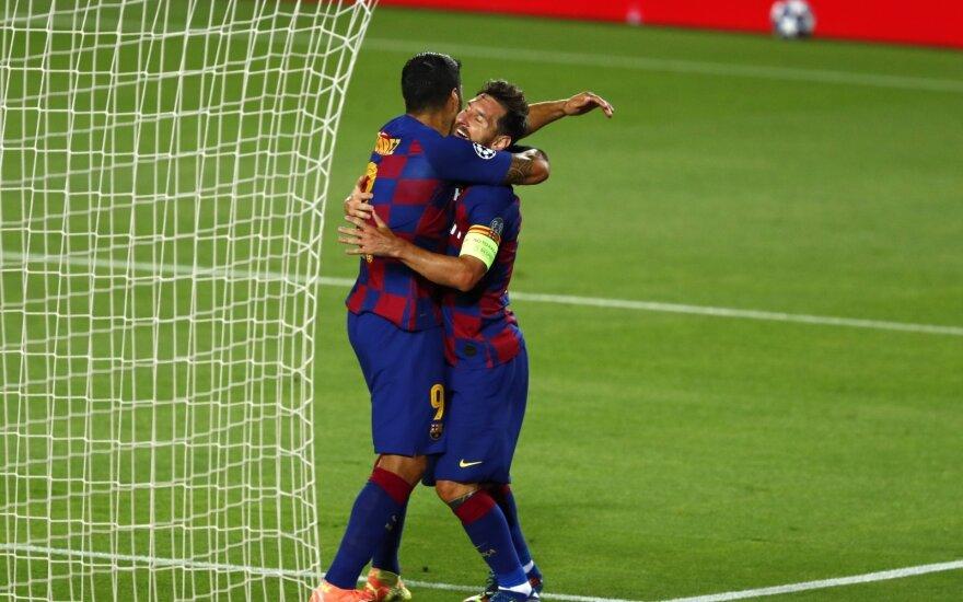 "UEFA Čempionų lyga: genialus Messi ištempė ""Barceloną"", o ""Bayern"" su Lewandowskiu sudorojo ""Chelseą"""